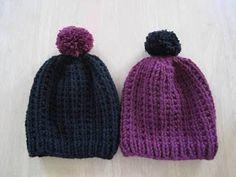 Salainen neuleblogi: Nopea ja helppo pipo x 2 lasipurkissa Knitted Hats, Diy And Crafts, Knit Crochet, Winter Hats, Beanie, Costumes, Knitting, Pattern, Style