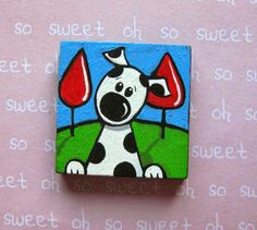 Dog Canvas Painting, Kids Canvas Art, Small Canvas Art, Baby Painting, Mini Canvas, Mini Paintings, Animal Paintings, Animal Doodles, Art Drawings For Kids