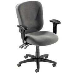 Lorell Lorell Accord Series Mid-Back Desk Chair Upholstery: Gray