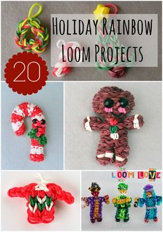20 Awesome Holiday Rainbow Loom Designs