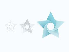 Star by Yoga Perdana Logo Design Inspiration, Icon Design, My Design, Flat Design, Hotel Logo, Star Logo, Graphic Design Typography, Design Elements, Branding