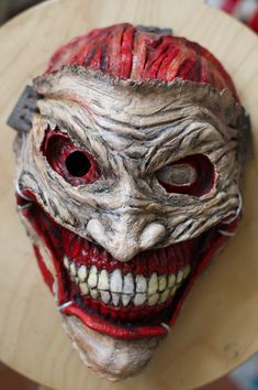 Items similar to inspired Joker 52 death of the family Mask comics cosplay costume on Etsy Mascaras Halloween, Halloween Masks, Scary Halloween, Halloween Makeup, Joker Death, Joker Mask, Cool Masks, Creepy Masks, Creepy Clown