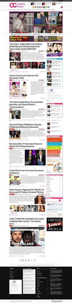 CelebrityGossip WordPress Theme - Magazine3