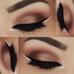 """___ •• Brows: @anastasiabeverlyhills DipBrow in Auburn and Dark Brown •• Eyeshadows: @morphebrushes 35O palette •• Liner: @motivescosmetics Little Black…"""