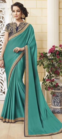 f2240f721b74d7 726431 Green color family Silk Sarees in Crepe Silk fabric with Border