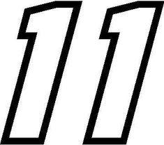 NASCAR Number 11 | NASCAR Decals :: 11 Race Number Motor ...