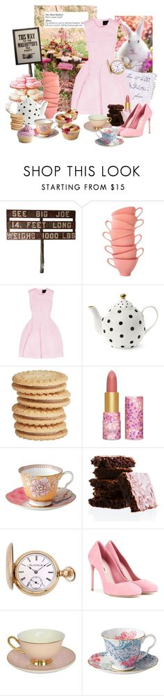 """Tea-party at Mad-hatter's"" by sophier ❤ liked on Polyvore featuring Shellys, Simone Rocha, Miss Étoile, tarte, Wedgwood, Elgin and Miu Miu"