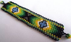 Huichol Beaded Bracelet by Aramara on Etsy