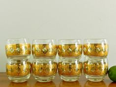 Fabulous set of the Large Culver Valencia Roly Poly Cocktail Glasses! Just added them to my shop!