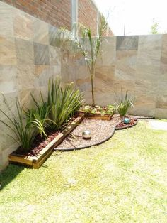 Jardins minimalistas por constructora asvial s. Front Yard Garden Design, Small Front Yard Landscaping, Backyard Garden Design, Small Patio, Backyard Patio, Backyard Landscaping, Landscaping Ideas, Patio Ideas, Minimalist Garden