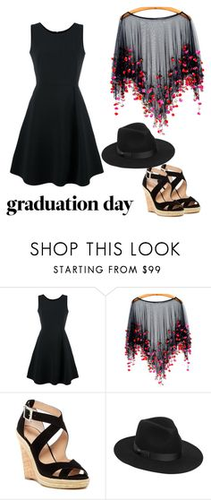 """""""Grads Day"""" by captainchickadeee ❤ liked on Polyvore featuring Emporio Armani, Charles by Charles David and Lack of Color"""