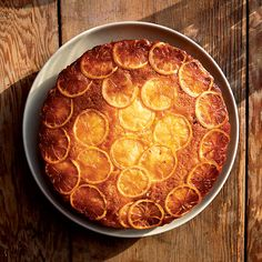 Lemon Upside-Down Cake | Cal Peternell likes teaching recipes that are extremely versatile, like this one. The cake is wonderful when it's made with almost any type of fruit, from figs and blood oranges to pineapple. Peternell usually uses sweet Meyer lemons from his neighbor's tree. Regular lemons are tasty too and add a bitter note that's a lovely contrast to the gooey brown-sugar topping.