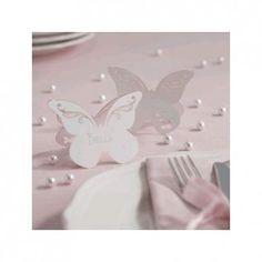 Segnaposto in carta con farfalla bianca 10 pezzi