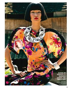 to the east: wang xiao by li qi for vogue china april 2013 | visual optimism; fashion editorials, shows, campaigns & more!
