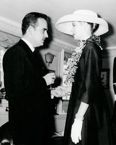 Grace Kelly and Prince Rainier of Monaco pictured after Grace's arrival in Monaco. (12 April 1956)