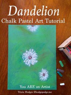 Dandelion Chalk Pastel Art Tutorial
