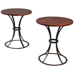 Rare Pair of Tall Side Tables by Pierre Chareau   From a unique collection of antique and modern side tables at http://www.1stdibs.com/furniture/tables/side-tables/