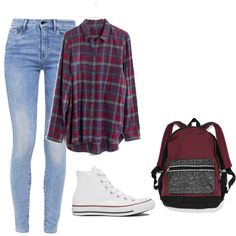 Lazy school day by fashionlover4562 on Polyvore featuring polyvore, fashion, style, Madewell, G-Star, Converse, Victoria's Secret and clothing