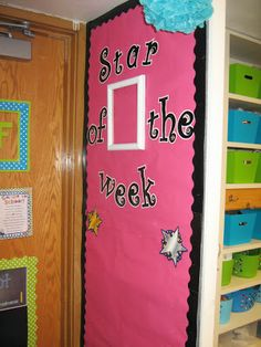 Bits of First Grade: Star of the week board
