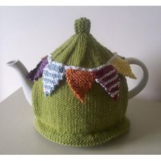 Summer Bunting Tea Cosy Knitting Crochet pattern by Buzybee | Knitting Patterns | LoveKnitting