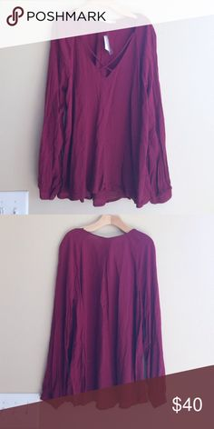 NWT! Nordstrom LUSH Maroon Criss Cross Blouse M NWT! Nordstrom LUSH Maroon Criss Cross Blouse. Size Medium. Beautiful Fall top for work to weekend. Sexy and trendy Criss Cross detailing! Nordstrom Tops Blouses