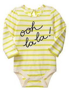 Keyhole bodysuit ooh la la! Baby Gap