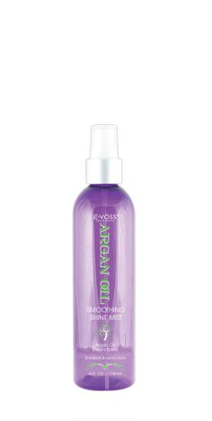 Argan Oil Smoothing Shine Mist is a fast-drying, humidity-resistant shine spray. It restores shine & natural brilliance to your hair as well as repairs split ends and eliminates frizz on top of providing maximum thermal protection. This light weight non-greasy Argan oil spray adds a high-polished brilliant shine to every style and restores luster to dry and dull textures.