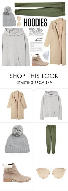 """Hoodie Moods"" by sweet-jolly-looks ❤ liked on Polyvore featuring Mara Hoffman, MANGO, UGG, MM6 Maison Margiela, Sole Society, Christian Dior and Juliska"