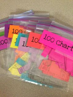 My kids LOVE 100 chart puzzles! Print and laminate a hundreds chart, and cut it apart!