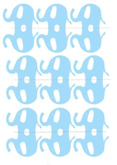 Lifes A Celebration: Baby shower elephant cupcake toppers and bunting