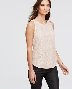 Image of Floral Lace Tank