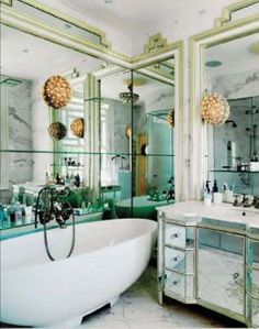 lots of light from all the mirrors, shiny surfaces.  Would love to see the shower.