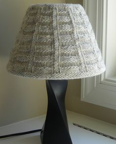 Create this easy removable cozy cable knit lampshade cover perfect create this easy removable cozy cable knit lampshade cover perfect for the cool days ahead diycrafts pinterest cable cozy and create aloadofball Choice Image