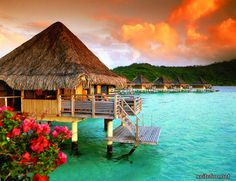 Can I say this would be my DREAM getaway! Bora Bora, the most romantic island! Just BEAUTIFUL!!!
