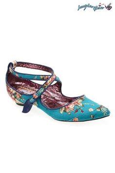 Irregular Choice Duke Blue Printed Shoes
