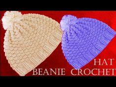 Como tejer gorro a Crochet - Beanie Crochet learn - YouTube