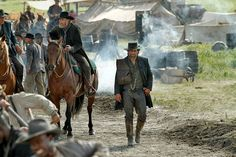 """n """"Hell on Wheels"""" on AMC a Confederate Army veteran with a mission gets caught up in the construction of the Transcontinental Railroad in the 1860's. this reflects a perfect fictionalized image of the west"""
