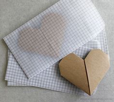 Pretty folded hearts by Upon a Fold