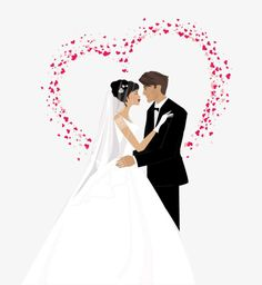 Wedding Happy, Wedding Images, Vector Free, Personality, Wedding Dresses, Weddings, Happy Marriage, Bridal Dresses, Bridal Gowns