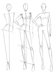 Fashion Drawing Tutorial, Fashion Figure Drawing, Fashion Model Drawing, Fashion Drawing Dresses, Dress Design Sketches, Fashion Design Sketchbook, Fashion Design Drawings, Fashion Sketches, Fashion Illustration Poses