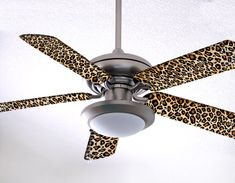 Leopard Fancy Blade Ceiling Fan Blade Covers Home Decor & Baby Decor, Black Animal Print Bathroom, Animal Print Rooms, Animal Print Decor, Animal Prints, Ceiling Fan Blade Covers, Ceiling Fan Blades, Leopard Bedroom, Animal Bedroom, Vintage Ceiling Fans