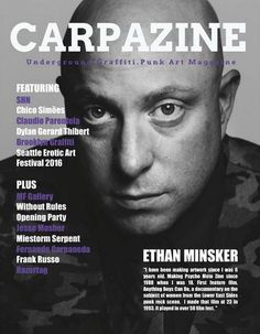 Here's a taste of what's in Carpazine April/May. Carpazine Underground Art magazine featuring: Exclusive Interview with Actress and Musician MANOUSH, Street Artist SOSEK, Painter Elstabo, Whole Car Stickers, Pyropainter: Neo-gothic, Surrealist Artist!, Without Rules Featuring Artists Jesse Mosher, Miestorm Serpent, Fernando Carpaneda and Frank Russo, BROBA: Cartoonist! and many more!