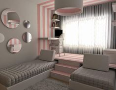 139 Wonderful Modern Small Kids Bedroom Inspirations - Home Decorations Ideas Dream Rooms, Dream Bedroom, Girls Bedroom, Bedroom Decor, Bedroom Ideas, Bedroom Inspiration, Bedroom Furniture, Teen Bedroom Colors, Kid Bedrooms