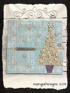 Let+It+Snow+mixed+media+burlap+panel+by+mangiaDesigns+on+Etsy,+$20.00
