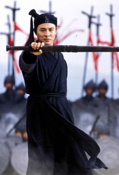 Jet li in Hero.  His best performance. Most touching the balance foe pride and ego aganist serenity and harmony