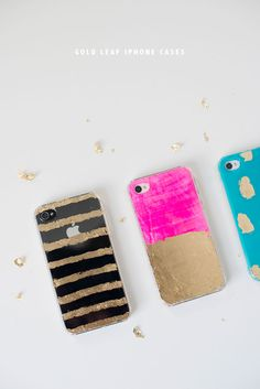 DIY Gold Leaf iPhone Cases | Oh Happy Day!