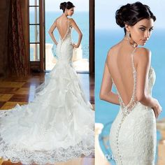 2016 Beautiful Backless Wedding Dress Kitty Chen Sweetheart Lace Mermaid Gown With Beaded Straps Low Back With Ruffled Skirt Detail Sexiest Mermaid Wedding Dresses Silk Mermaid Wedding Dress From Rhodanthe, $128.15| Dhgate.Com