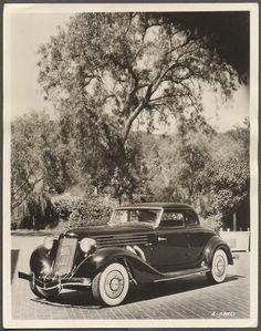 Vintage Car Photo 1936 Auburn 852 Super Charged Coupe Dealer Press Promo 589710