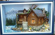 mavicini Fairy Box, Wall Murals, Wall Art, Box Houses, Book Nooks, House Front, Stone Art, Shadow Box, 3 D