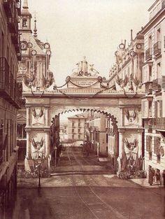 1875 Arco de entrada para Alfonso XII